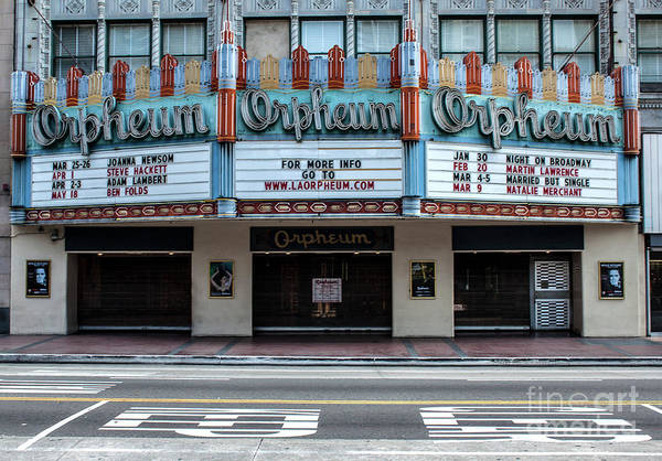 Photograph - Los Angeles Orpheum Theater by Gregory Dyer