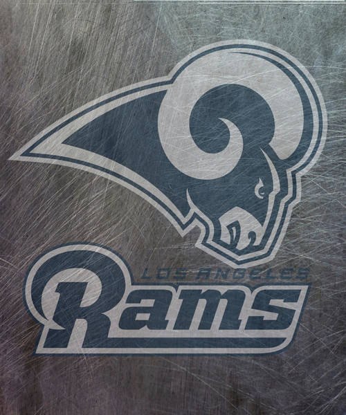 Mixed Media - Los Angeles Rams Translucent Steel by Movie Poster Prints