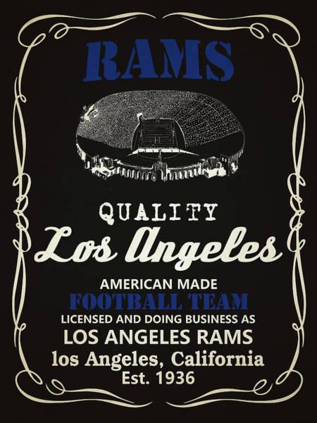 Whiskey Mixed Media - Los Angeles Rams Whiskey by Joe Hamilton