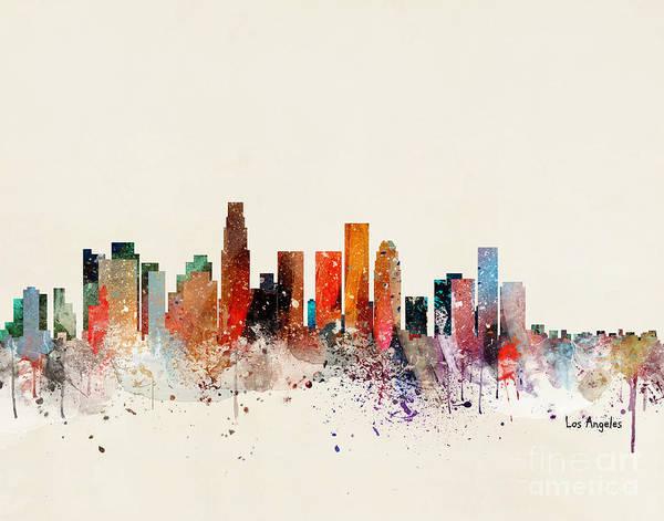 Wall Art - Painting - Los Angeles Skyline by Bri Buckley