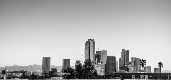 Photograph - Los Angeles Skyline - B And W by Gene Parks