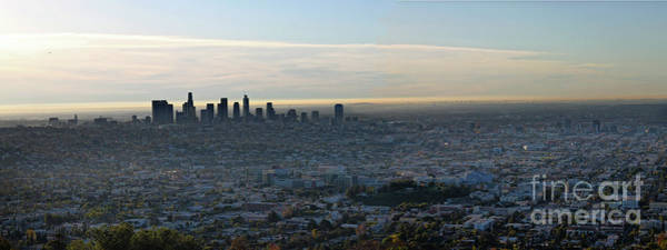 Photograph - Los Angeles Skyline by Gregory Dyer