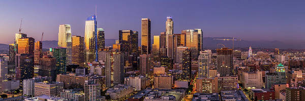 Photograph - Los Angeles Twilight Panorama by Kelley King