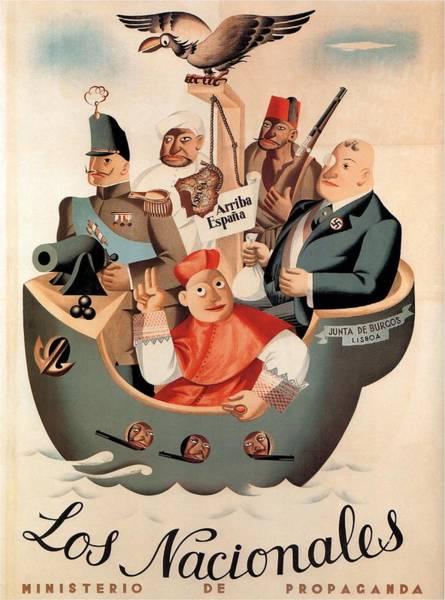 Product Mixed Media - Los Nacionales - Ministerio De Propaganda - Vintage Propaganda Poster by Studio Grafiikka