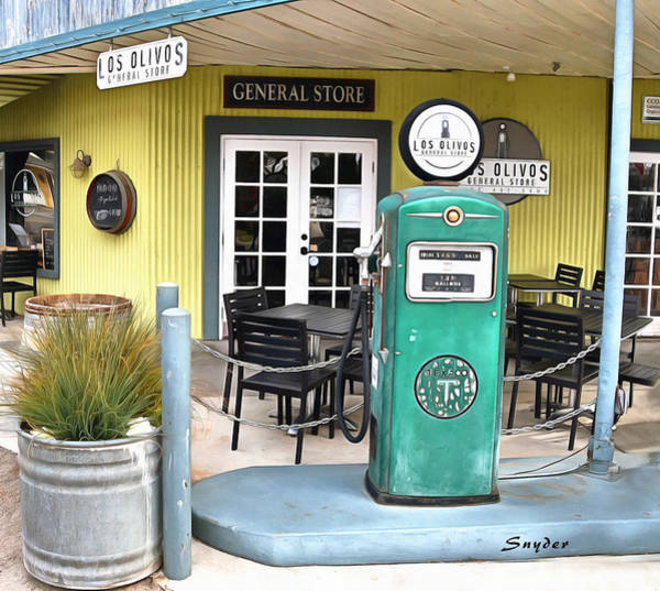 Photograph - Los Olivos General Store Abstract by Floyd Snyder