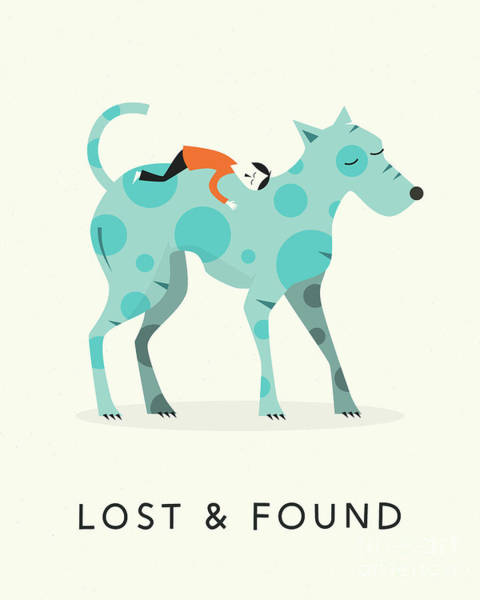 For Digital Art - Lost And Found 1 by Jazzberry Blue