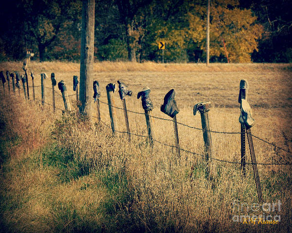 Lost River State Park Wall Art - Photograph - Lost And Found Shoes On Fence Posts by Kathy M Krause