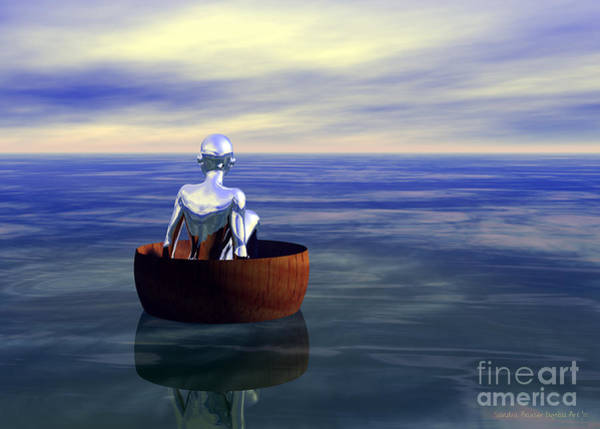 Digital Art - Lost At Sea by Sandra Bauser Digital Art