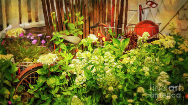 Photograph - Lost Bicycle Of Flowers by Craig J Satterlee