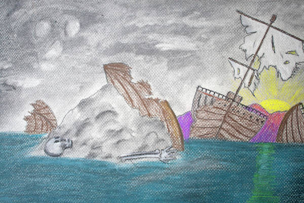 Pastel - Lost Boat by M Valeriano
