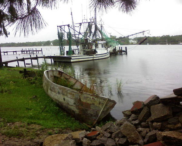 Wall Art - Photograph - Lost Boat by Patricia Caldwell