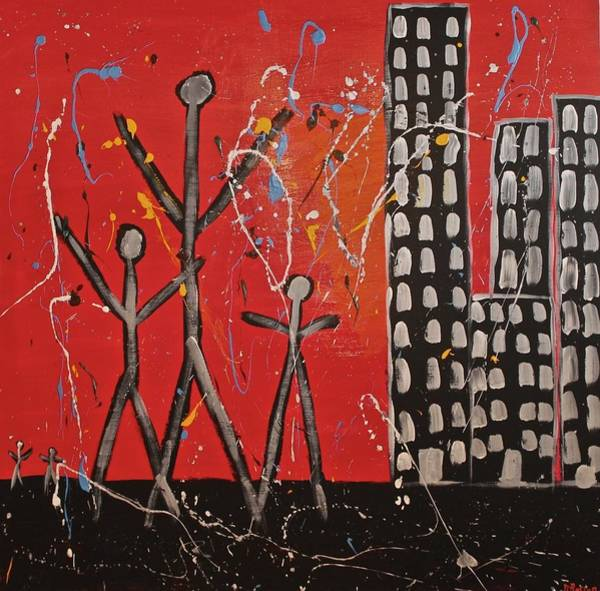 Painting - Lost Cities 13-001 by Mario MJ Perron