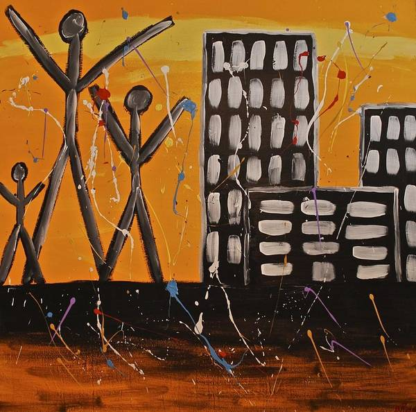 Painting - Lost Cities 13-002 by Mario MJ Perron