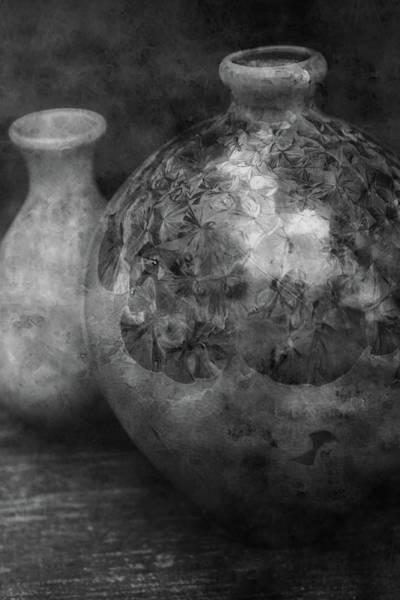 Photograph - Lost Crystal Glaze Vessels 1722 Bw_2 by Steven Ward