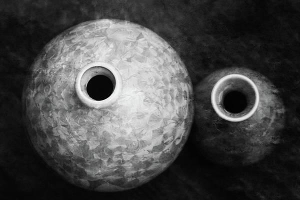 Photograph - Lost Crystal Glaze Vessels 1761 Bw_2 by Steven Ward