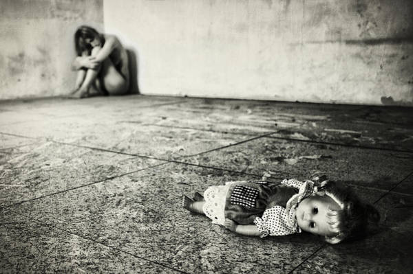 Contemporary Photograph - Lost Doll by Stefano Miserini