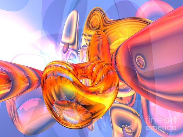 Wall Art - Digital Art - Lost Frequency Abstract by Alexander Butler