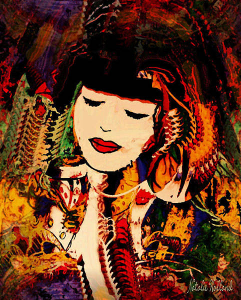 Geisha Mixed Media - Lost In A Dream by Natalie Holland