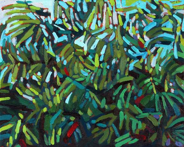Tangle Painting - Lost In Leaves by Phil Chadwick