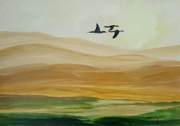 Painting -  Lost In Smoke by Cheryl Nancy Ann Gordon