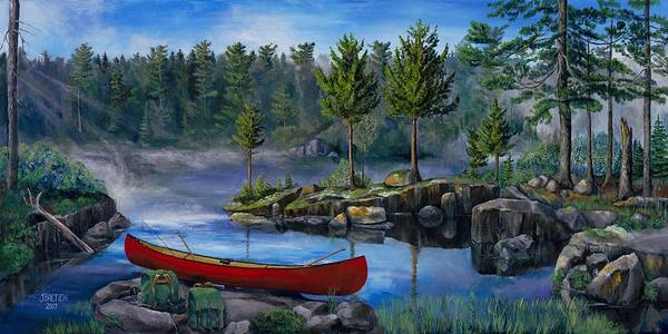 Painting - Lost In The Boundary Waters by Joe Baltich