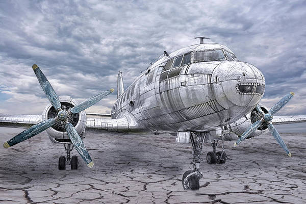 Silvery Photograph - Lost In The Middle Of Nowhere by Joachim G Pinkawa