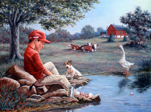 Jack Russell Wall Art - Painting - Lost In Thought by Richard De Wolfe