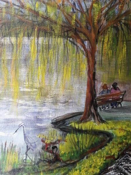 Park Bench Mixed Media - Lost Lagoon by Sue Williams