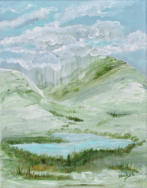Wall Art - Painting - Lost Lake by Donna Blackhall