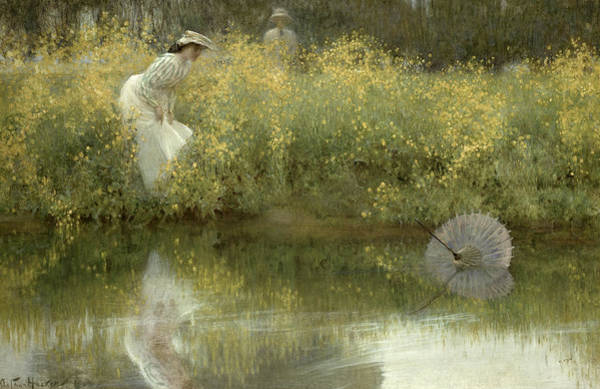 Floating Painting - Lost Parasol by Arthur Hacker