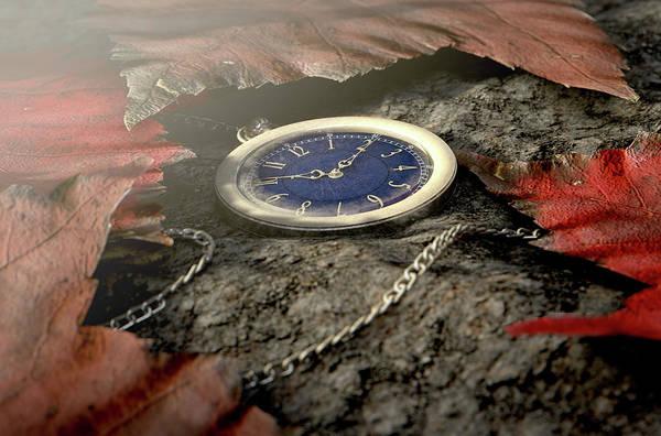 Wall Art - Digital Art - Lost Pocket Watch On Chain by Allan Swart