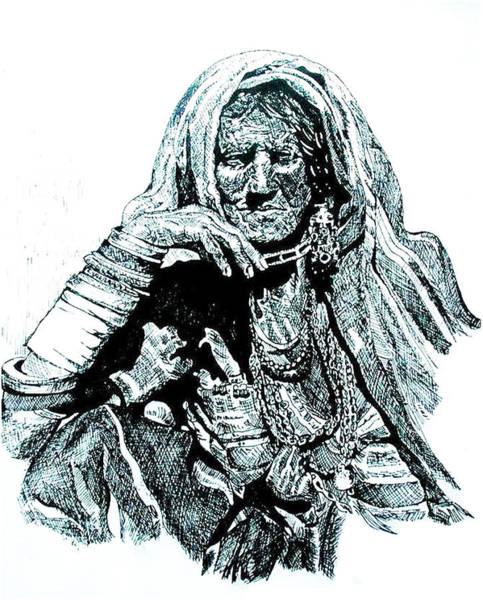 India Ink Wall Art - Drawing - Lost by Ramneek Narang