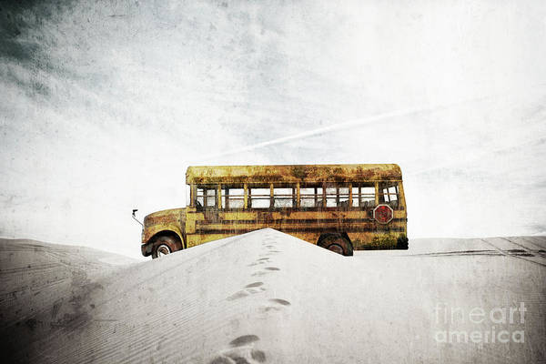 Digital Art - Lost School Bus by Edward Fielding