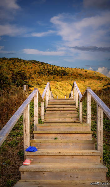 Cabot Trail Photograph - Lost Shoes On The Stairs To The Sky by Ken Morris
