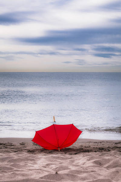 Photograph - Lost Umbrella by Maria Heyens