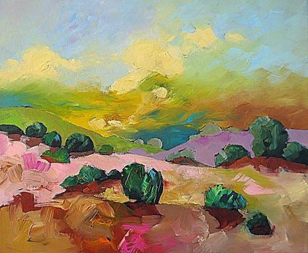 Fauve Painting - Lost Valley by Linda Monfort
