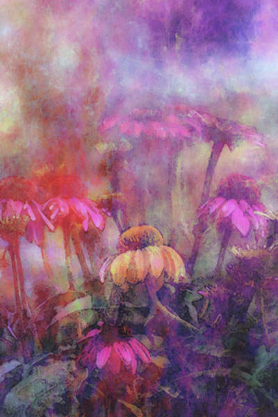Photograph - Lost Watercolored Shower In The Garden 3873 Lw_2 by Steven Ward