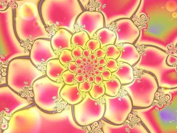 Water Plant Digital Art - Lotus by Anastasiya Malakhova