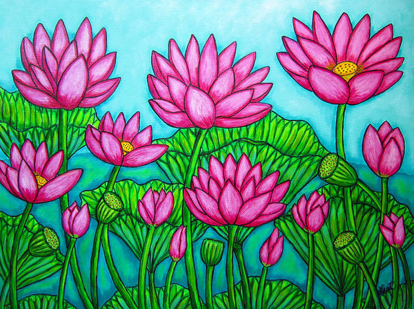 Painting - Lotus Bliss II by Lisa  Lorenz