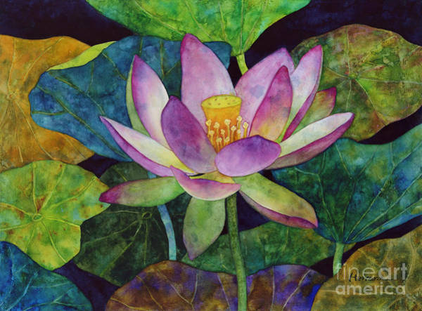 Japan Painting - Lotus Bloom by Hailey E Herrera