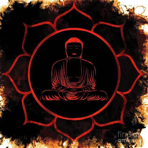 Wall Art - Painting - Lotus Buddha by Pierre Blanchard
