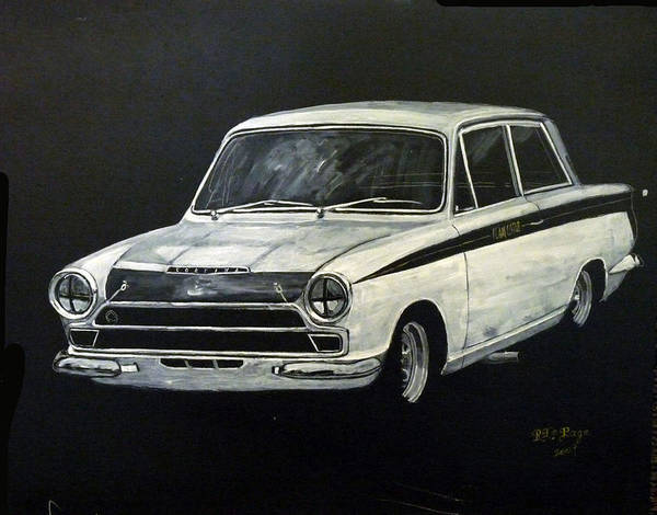 Painting - Lotus Cortina by Richard Le Page