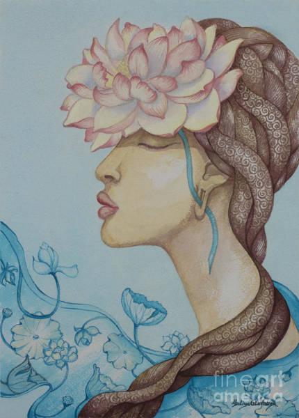 Wall Art - Painting - Lotus Dream by Yuliya Glavnaya