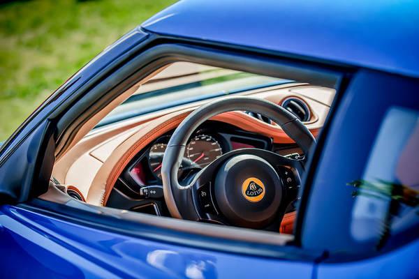 Photograph - Lotus Evora S Steering Wheel -1858c by Jill Reger