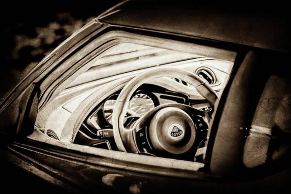 Photograph - Lotus Evora S Steering Wheel -1858s by Jill Reger