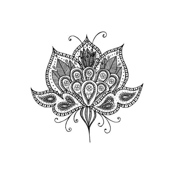 Organic Garden Drawing - Lotus Flower by Tati Alecrim