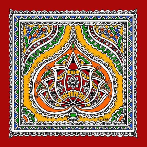 Lotus In Mithila  Art Print