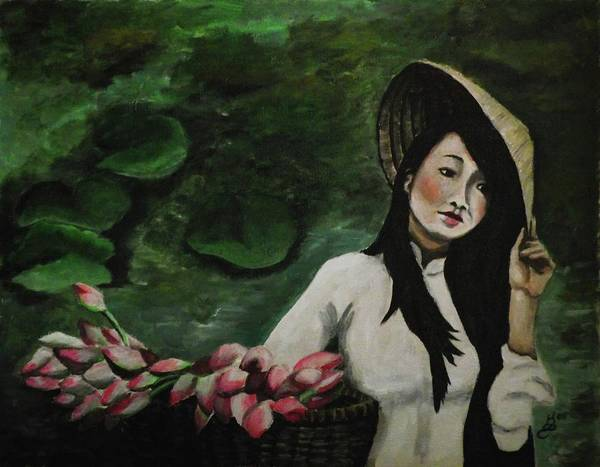 Wall Art - Painting - Lotus by Kim Selig
