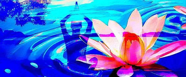 Om Wall Art - Digital Art - Lotus Pool by Brian Broadway