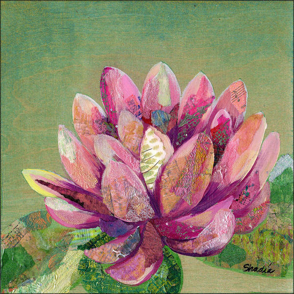 Blooming Painting - Lotus Series II - 1 by Shadia Derbyshire